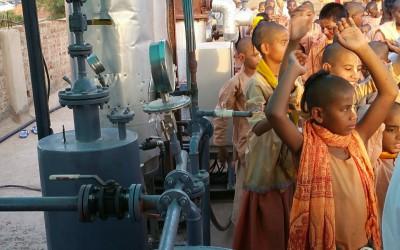 Bio Gas Plant at Mataji Goshala is Operational